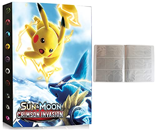 Porta Carte Compatibile Con Pokemon, Album Compatibile Con Pokémon, Raccoglitori Compatibile Con Pokemon, Album Porta Compatibile Con Pokemon, Può contenere fino a 432 carte (SD-PIKACHU)
