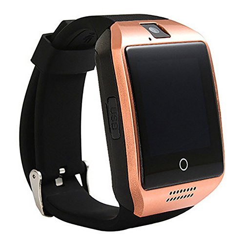 ZOMTOP Q18 Smart Watch teléfono Bluetooth cámara SIM TF Tarjeta SmartWatch para Android Samsung LG Google Pixel y iPhone 7 7Plus 6 6S 6S Plus (Gold)