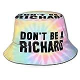 Photo de Don 't Be a Richard Fisherman Hats Chapeau de Soleil de Plage de Voyage d'été Pliable Unisexe