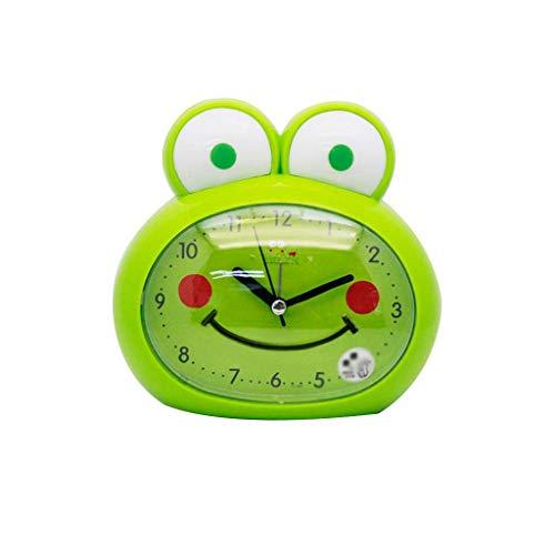 JJZST Reloj Despertador - Linda en Forma de Rana en Forma de Cerdo Despertador for niños con luz de Noche con Forma de Rana