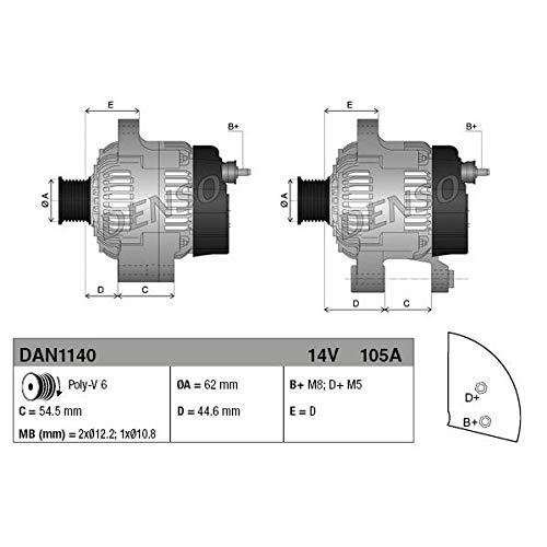 DENSO DAN1140 Generator Lima, Lichtmaschine, Dynamo