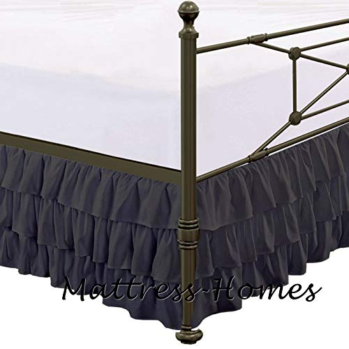 Buy Split Corner Bed Skirt Split Corner Bed Skirt Microfiber Multi-Ruffle Bed Skirt Bed