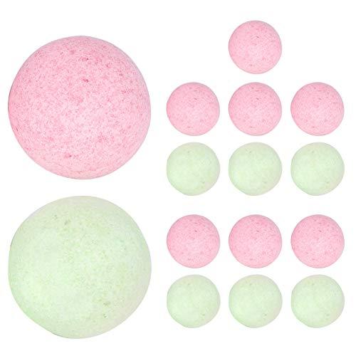 15 bolas de sal de baño de 40g ricas en sal marina, aceite esencial, exfoliante de fragancia de aceite de girasol, accesorio de baño de burbujas