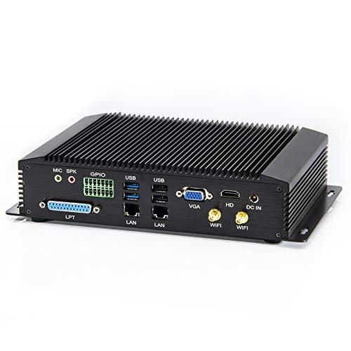 KINGDEL GK6000 Mini PC PC de escritorio 6ª generación Intel Core i3 procesador, 2 núcleos, 4 GB RAM 64 GB SSD, 4 USB3.0 2* conectores Wi-Fi, sin ventilador Windows 10 Pro, HD VGA LAN GPIO LPT