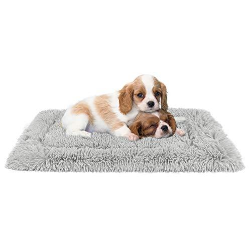 G.C Cama Antiestres Perro Grande Mediano Pequeño, Colchonetas para Perros Gatos Relajante Lavable Colchón Suave Cojín de Felpa para Mascotas Manta Perro S(70 x 47 cm)