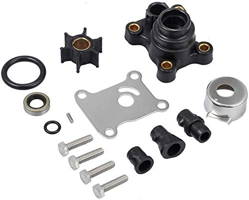 YoHa Water Pump Repair Kits with Housing for Johnson Evinrude 1974-UP 8-15HP 18-3327,394711,0394711,386697,391698,389112,387610