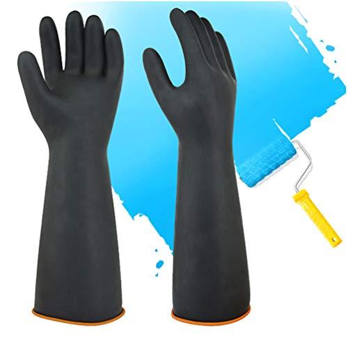 Guanti chimici in lattice PPE in gomma resistente Sicurezza sul lavoro Guanti protettivi lunghi Guanti protettivi, Guanti 22