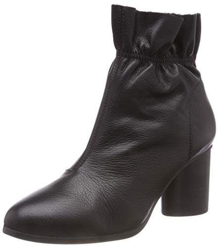 Bianco Damen Leather Boot Stiefeletten, Schwarz (Black 100), 38 EU