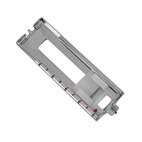 Knopflochfuß - Schiene mit Größenmesser (universal)