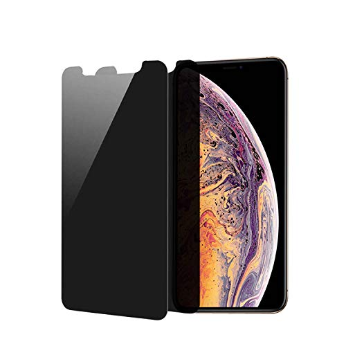 HXL Privacy Screen Protector for iPhone 11 Pro Max, iPhone Xs Max Anti-Spy Tempered Glass, 3D Touch, Easy install (6.5 inch 2Packs)