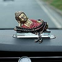 家の装飾のための仏のショーピース仏像 神の像、ホームデコレーション飾り置物純銅如皋仏像カーインテリアの装飾品禅のような車の装飾は、私たち安全を保ちます 樹脂小禅仏