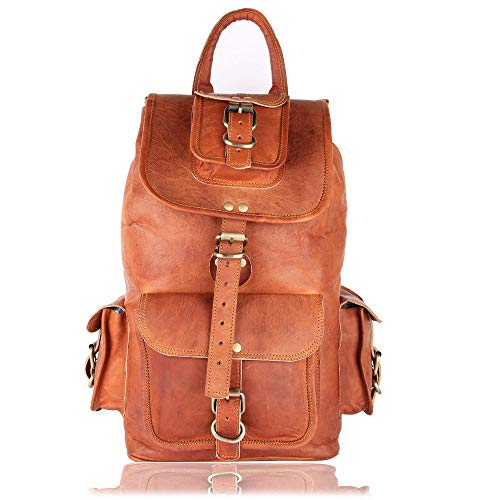 Brown Leather Rucksack by Leather Native –...