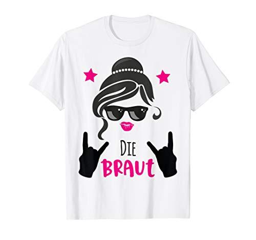 Team Bride Outfit pink - Die Braut rockt JGA Gruppe T-Shirt