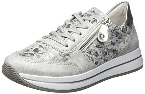 Remonte Damen D2501 Sneaker, Silber (Ice/Grau-Metallic/Argento 91), 40 EU