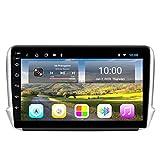 YSSSZ Navigatore GPS per Auto Lettore multimediale Stereo per Peugeot 208 2008 2014-2018, Radio satellitare Supporto Touch Screen da 9 Pollici FM/Bluetooth/WiFi/SWC/Mirror Link,2G+32G