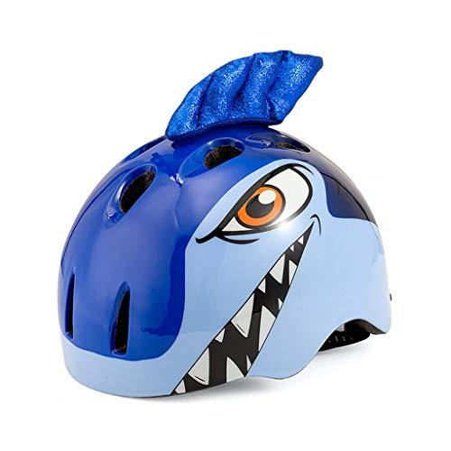 Meet World Bicicleta de niño Cascos PC + EPS tiburón de Dibujos...