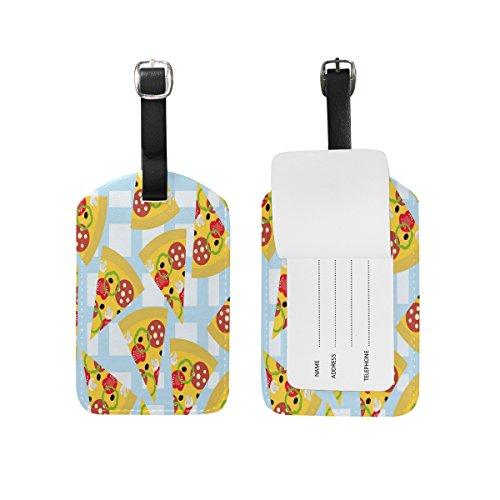 Domoko Cartoon Pizza Luggage Tags Travel ID Bag Tag 1 Piece