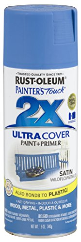 Rust-Oleum 249062 Painter's Touch 2X Ultra Cover, 12 Oz, Satin Wildflower Blue