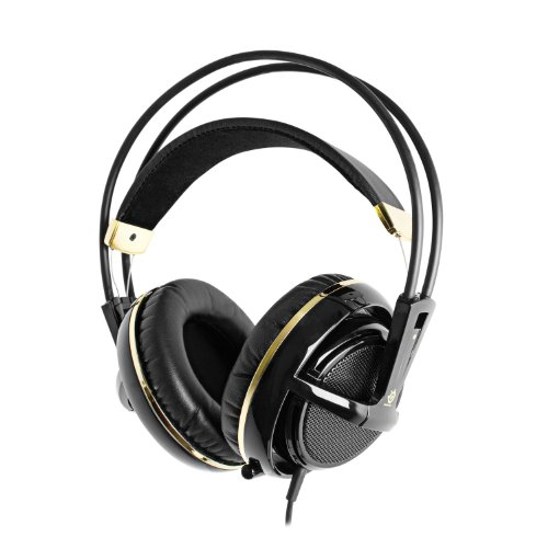 SteelSeries Siberia v2 Full-Size Gaming Headset (Black and Gold)