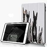 She Charm Funda para iPad 9.7 para iPad Pro 9.7 Pulgadas 2016,Grupo de jóvenes Bulldogs franceses con Expresiones adorables Animal Lover Photo,Incluye Soporte magnético y Funda para Dormir/Despertar
