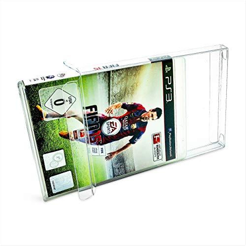 20 x Klarsicht Schutzhüllen für Sony Playstation 3 OVP 0,3mm Passgenau und Glasklar-PET-Reset Retro Game Protectors-PS3-PS4-Blu-Ray Steelbook cases-box-Staubdicht-UV-Schutz