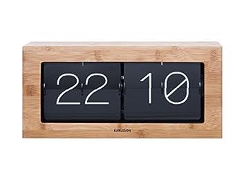 Karlsson Boxed Flip Clock  Bamboo