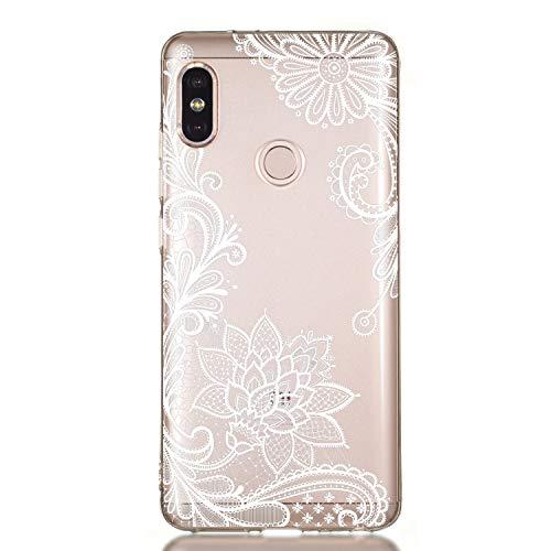 Huphant kompatibel mit Huawei Honor 6A hülle Silikon Transparent dünn [Anti-Gelb] Stoßstange Anti-Scratch Silikon Case Huawei Honor 6A Handyhülle -Weiße Spitze