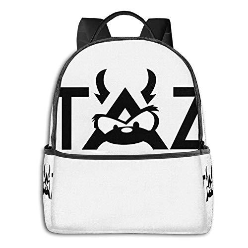 TAZ Fashion Backpack Bookbag Rucksack Geldbörse für Frauen 12X14.5X5 in Schwarz