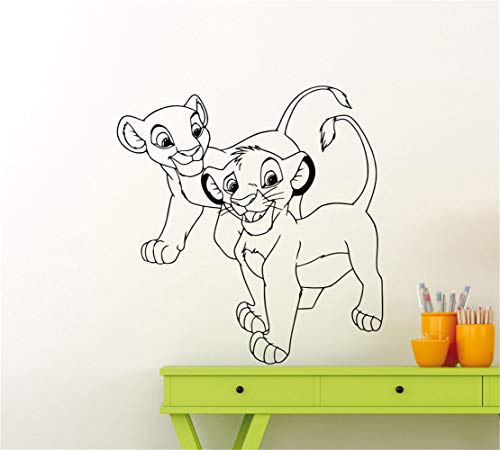 stickers muraux Sticker Roi Lion Sticker Roi Lion Simba Nala Baby Nursery Vinyle Autocollant Art Décor Nursery vinyle décalque