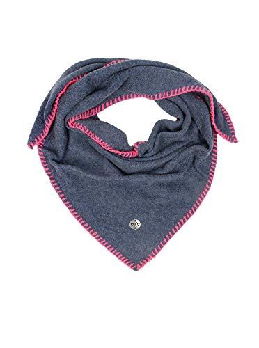 Zwillingsherz Dreieckstuch mit Kaschmir - Hochwertiger Schal mit Heckel Rand für Baby-s Jungen und Mädchen - XXL Hals-Tuch - Strick-Waren für Sommer und Winter von Cashmere Dreams blau