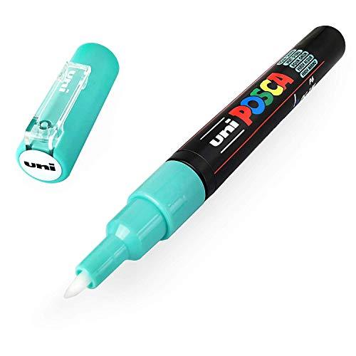 Uni POSCA PC-1M Paint Marker Art Stifte, 0,7 mm, Aqua Green - Einzelner Stift