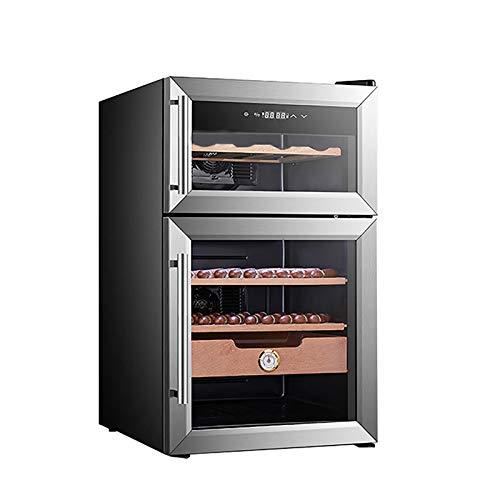 Cave à cigares Cave à cigares électronique (capacité de 8 vins Rouges / 560 cigares) avec étagères en Bois de cèdre Espagnol Option d