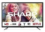 """Sharp 24BC1E - Televisor Smart TV de 24"""" - 24 Pulgadas HD WiFi (resolución 1368 x 720, 2 x HDMI, 2 x USB), Color Negro"""