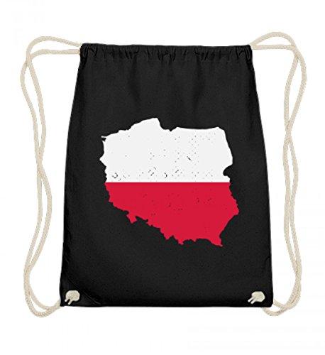 Hochwertige Baumwoll Gymsac - Polen Landkarte Trikot Emblem Adler Wappen Polnische Fahne Polska Flagge Geschenk