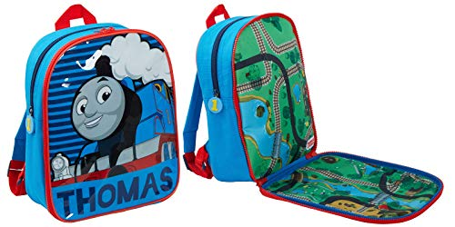 Thomas The Tank Engine Backpack School Bag with Fold Out Play mat for Trains Toy Bag Rucksack