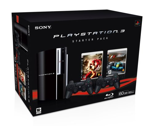 Console Playstation 3 Starter Pack 2 (Heavenly Sword + Formula One + 2 manettes Sixaxis)