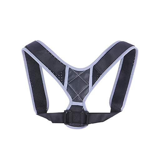 DSMYYXGS Corrector De Postura De Espalda Ajustable Clavícula Columna Vertebral Hombro Cinturón De Apoyo Lumbar Corrección De Joroba Mujeres Y Hombres (Color : Gray, Size : Small)