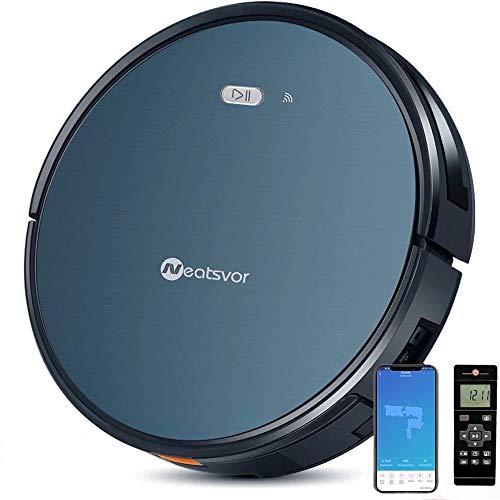 NEATSVOR X500 Robot Aspirateur Laveur - 3 en 1, Combo Désinfectant - Appareil de nettoyage connecté par Wifi - Compatible avec Alexa - Slim 55dB silencieux - Éliminateur auto de poils d'animaux