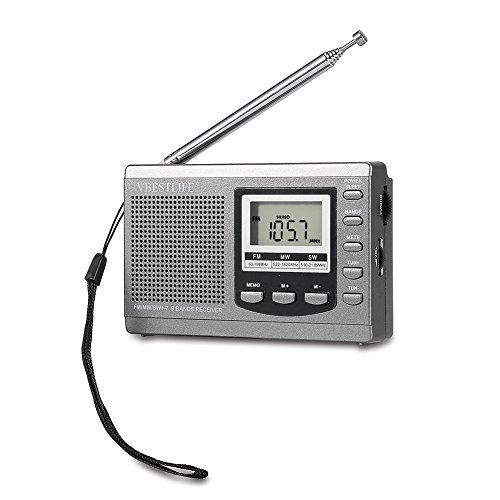 Tragbare tragbare Mini-Radios Suchen Sie automatisch in Mini nach Radiosendern(Gray)
