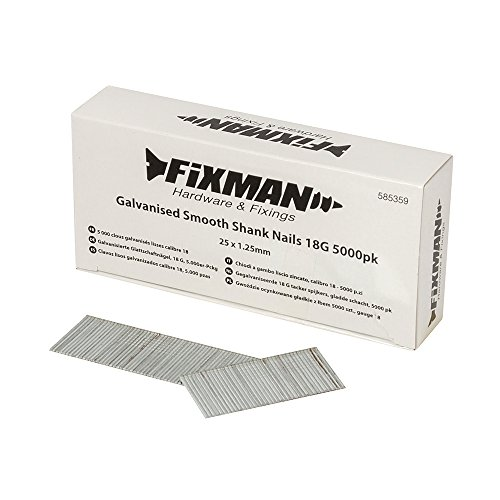 Fixman 585359 Clavos Lisos Galvanizados Calibre, Set de 5000 Piezas