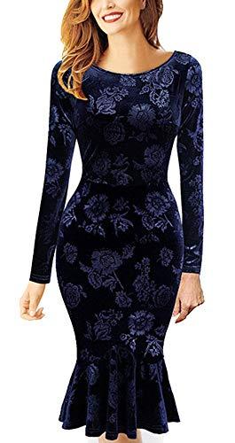 Dames lange mouwen elegante jurk etui jurk O hals business stretch fashion partyjurk cocktail figuur benadrukte knielange de taille in de lente hjaar en zomer