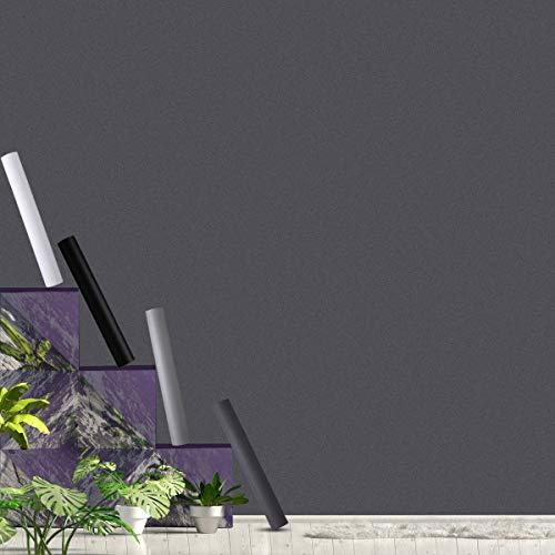 KINLO Möbelfolie ohne Glanz Folie PVC Selbstklebende Tapeten 40 x 300 cm dunkelgrau Klebefolie Stärke: 0,4 mm, Oberflächenschutz wasserdicht Anti Schimmel für Möbel Arbeitsplatte Wände Tür Schrank
