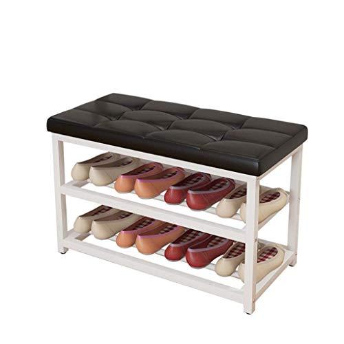 ShiSyan Zapatero Pasillo Muebles zapato Bastidores blanca zapatero, zapato de múltiples capas de Almacenamiento Hogar Gabinete Asamblea Organizador Pasillo zapato banco de almacenamiento de cajas 70 *