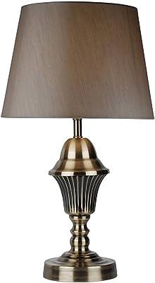 PAGAZZI Auskerry 40cm Table Lamp Small Antique Brass XXX6304