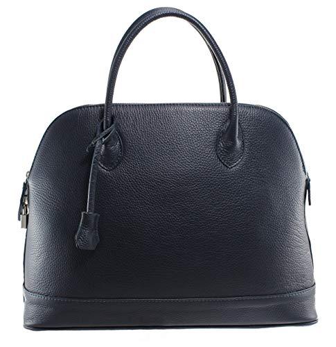 Chicca Tutto Moda CTM Elegante klassische Damen-Tasche, 40x30x15cm, 100% echtes Leder Made in Italy