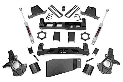 Rough Country 6' Lift Kit (fits) 2007-2013 Chevy Silverado GMC Sierra 1500 4WD | N3 Shocks | Knuckles | 23630