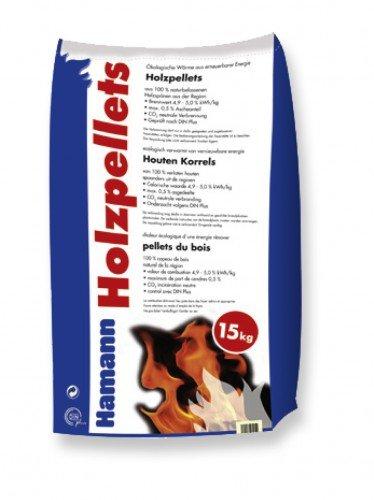 Holzpellets 6mm 15kg - Kaminpellets Heiz Pellet - ohne Bindemittel & chemischen Zusätzen