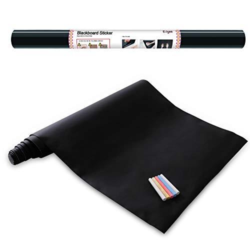 Schwarze Tafelfolie - Abnehmbare Tafelfolie Selbstklebende Kreidetafel 43 cm x 210 cm Selbstklebende 5 Stücke Kreide - Ezigoo