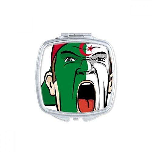 DIYthinker Algerije Nationale Vlag Facial Schilderen Make-up Masker Schreeuwende Cap Vierkant Compact Make-up Pocket Spiegel Draagbare Leuke Kleine Hand Spiegels Gift