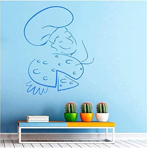Etiqueta de la pared Arte Calcomanía Decoración Chef Cocina Pizza Decoración del hogar Azulejo de cocina Impermeable 59X82Cm